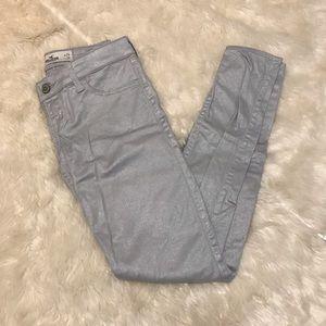Hollister | silver shimmer jean pants
